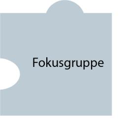 Puzzleteil mit Text: Fokusgruppe