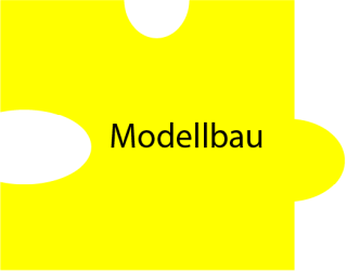 Puzzleteil mit Text: Modellbau